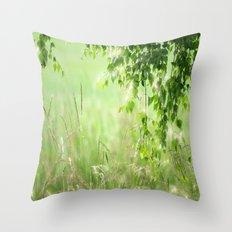 Birch leaves Throw Pillow