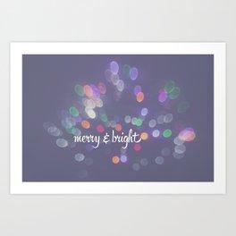 Merry and Bright Bokeh Art Print