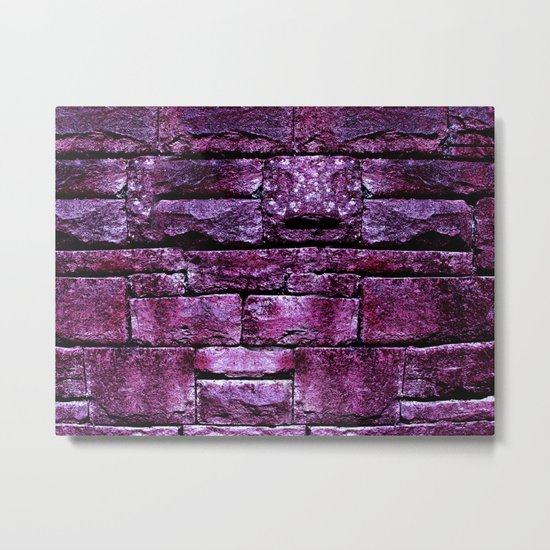 purple stone wall IV Metal Print