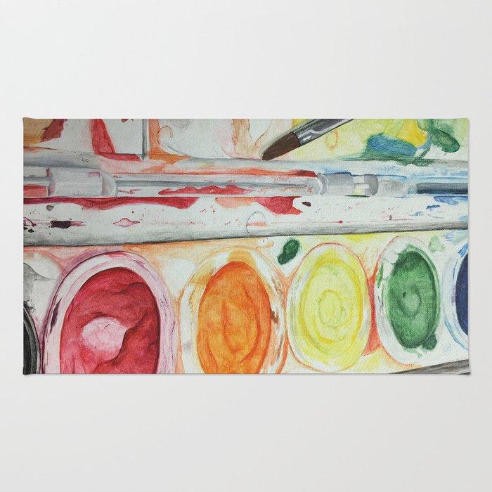 Paint Palette Rug
