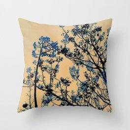 Beckon the Blue Throw Pillow