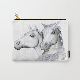White Horses of the Camargue Carry-All Pouch