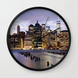 New York Nights #3 Wall Clock