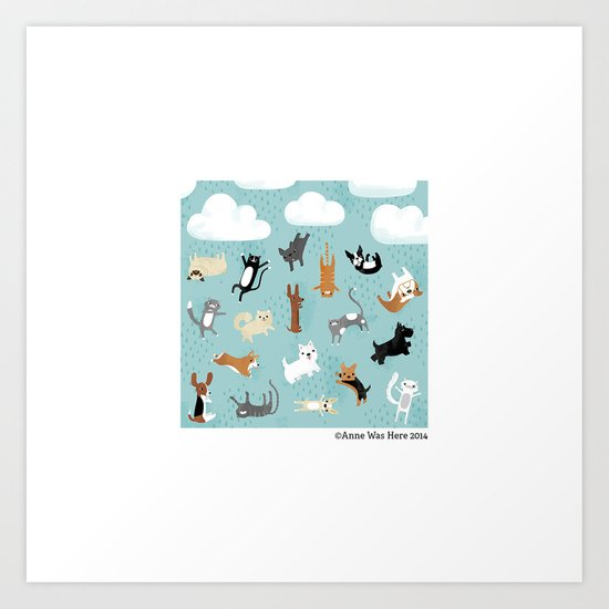 Raining Cats & Dogs Art Print