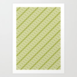 shortwave waves geometric pattern Art Print