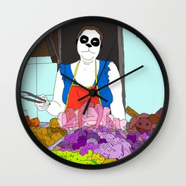 Butchin' Wall Clock