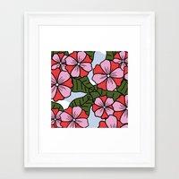 scandinavian Framed Art Prints featuring Scandinavian Garden by She's That Wallflower