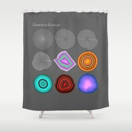 Generative Evolution Beta Shower Curtain