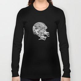 Football Helmet Long Sleeve T-shirt