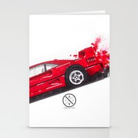 ferrari Stationery Cards featuring Ferrari F40  by Claeys Jelle Automotive Artwork