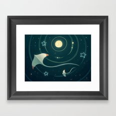 Space Ray Framed Art Print