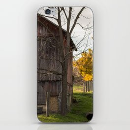 Red Barn, Country Road iPhone Skin