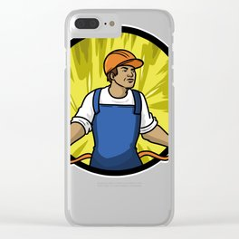 Electrician Gift Profession Electricity Strip Puller Clear iPhone Case
