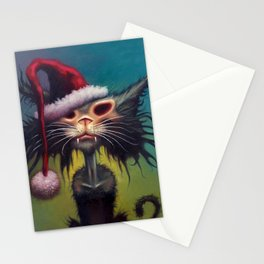 Zombie Cat Christmas Stationery Cards
