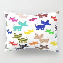 colorful chihuahuas on parade  Pillow Sham