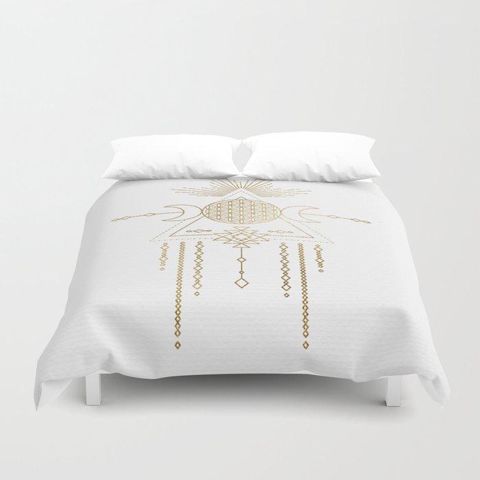 Golden Goddess Mandala Bettbezug