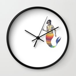 warrior mermaid with an eye patch Wall Clock