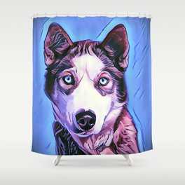 The Siberian Malamute Shower Curtain