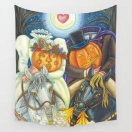 SLEEPY HOLLOW WEDDING - Brack Headless Horseman Halloween Art Wall Tapestry