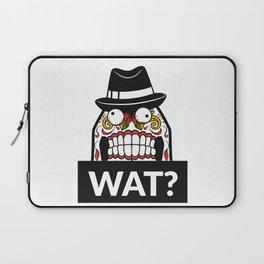 Scary Face - WAT? Laptop Sleeve