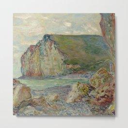 """Claude Monet """"Falaises des Petites-Dalles"""" Metal Print"""