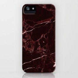 Masala Red Marble iPhone Case