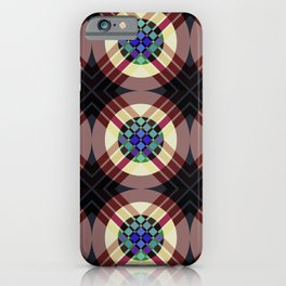 Manawydan - Colorful Abstract Art Pattern iPhone Case