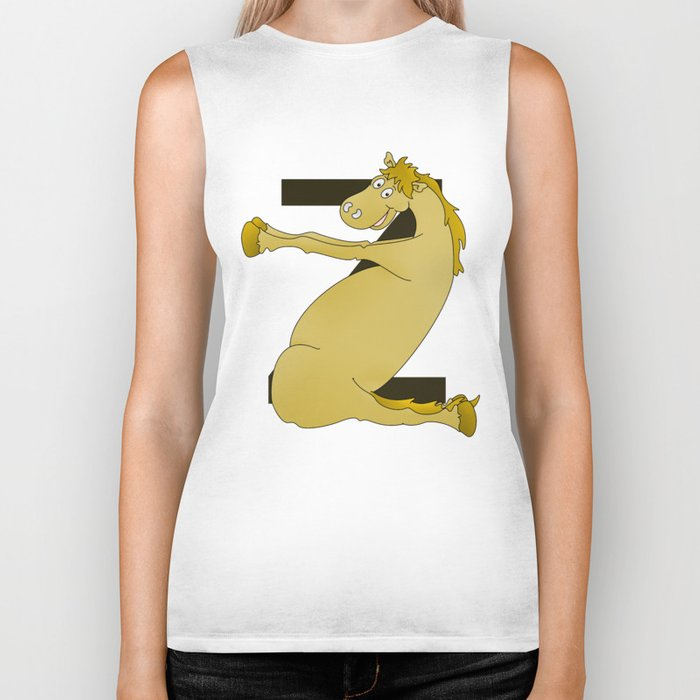 Monogram Z Pony Biker Tank