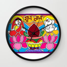 Madhubani Painting / Painting of Laxmi - Ganesha / Diwali pooja / Diwali Special / Madhubani Hub /Original painting of Amrita Gupta Wall Clock