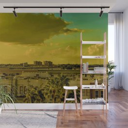 Downtown Fort Myers Skyline Wall Mural