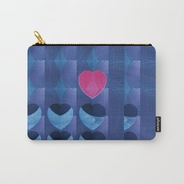 Fractal Art- Heart Art- Pink Heart- Blue Heart-U Know It- Childrens Art-Love Carry-All Pouch