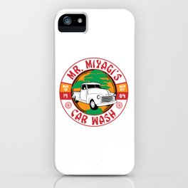 Mr. Miyagi's Car Wash iPhone Case