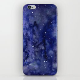 Night Sky Galaxy Nebula Stars Watercolor Space Texture iPhone Skin