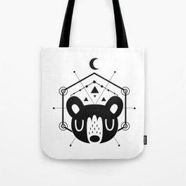 Moon Bear Black Tote Bag