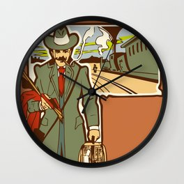 Azure Express train travel Wall Clock