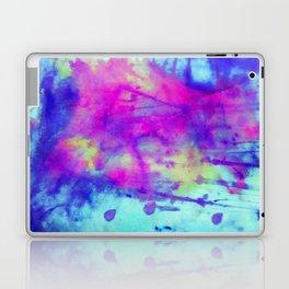 electric blue tie dye Laptop & iPad Skin