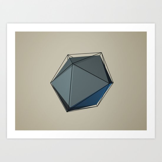 Isometric Art Print