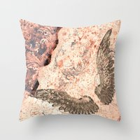 angel wings Throw Pillows featuring Angel wings by Dominique Gwerder