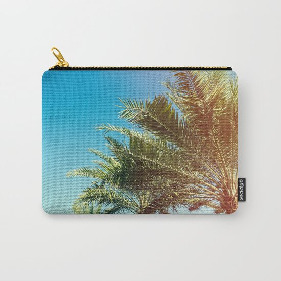 Vintage Palm tree vibes Carry-All Pouch
