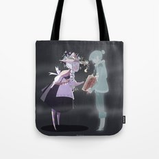 The witch and the ghost Tote Bag
