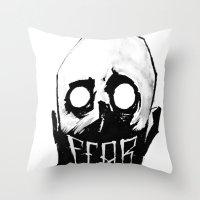 fear Throw Pillows featuring Fear by Jonathan Silence