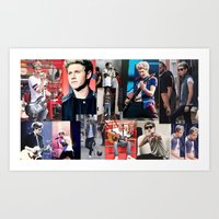niall horan Art Prints featuring Niall Horan by Saron