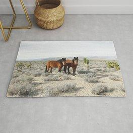 Desert Horse Pair Rug