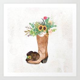 Southwestern Sunflower Art Print