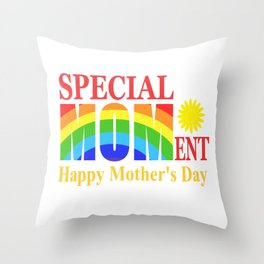 Mothers Day 2019 - Special Moment Throw Pillow