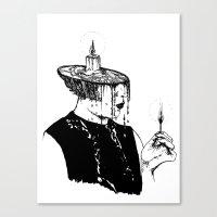 cigarette Canvas Prints featuring cigarette by Caroline Vitelli GOODIES