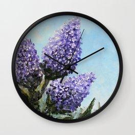 Springtime Lilacs Wall Clock