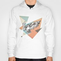 mcfly Hoodies featuring Owl McFly by carographic by carographic watercolor portraits