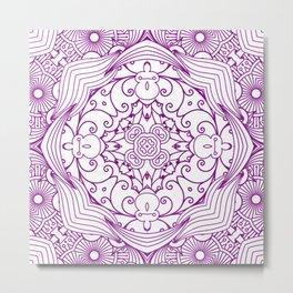 Mindful Mandala Pattern Tile MAPATI 187 Metal Print
