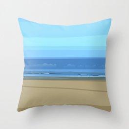Seascape I - Kijkduin Throw Pillow